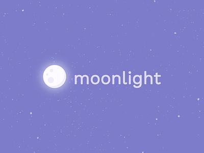 Moonlight Logo night space stars moon purple branding logomark logotype logo javin ladish