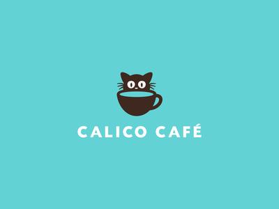 Calico Café Logo cafe coffee tea cute kitten cat identity branding logo javin ladish