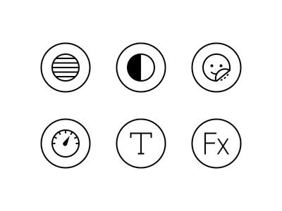 GIF Editor UI Icons app ui icons javin ladish illustration line monotone greyscale black and white