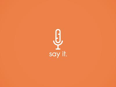 Microphone Logo minimalist javin ladish logo branding clean