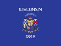 Wisconsin Pixel Flag