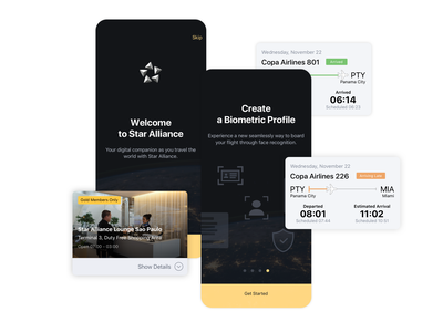 Star Alliance Biometrics app mobile app recognition facil recognition technology flight airport gold members lufthansa airline airlines interface user interface user experience nagarro profile flying aviation star alliance biometrics
