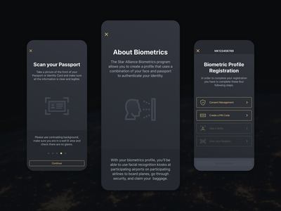 Seamless Onboarding tech gold member airport airlines face recognition biometric biometrics profile nagarro aviation user experience user interface app design flying application lufthansa star alliance mobile mobile app app