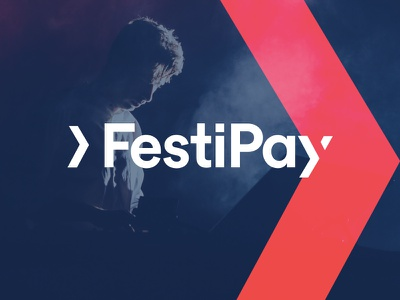 Festipay logo drinks payment cool festival pay brand logo