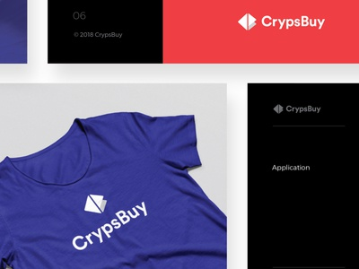CrypsBuy brand slides crypsbuy blue red guidelines brand clean cryptocurrency blockchain bitcoin