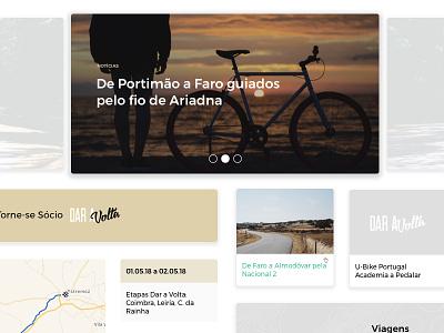 Dar a Volta Website cycling association trips route dar a volta bikes web website clean