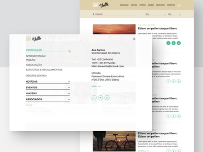 Dar a Volta - shot 2 menu website web trips route volta a dar cycling clean bikes association