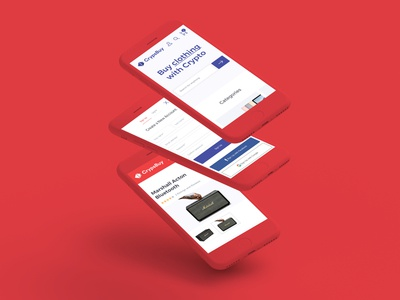 Crypsbuy - Buy with Crypto Currency slides red mobile guidelines cryptocurrency crypsbuy clean brand blue blockchain bitcoin
