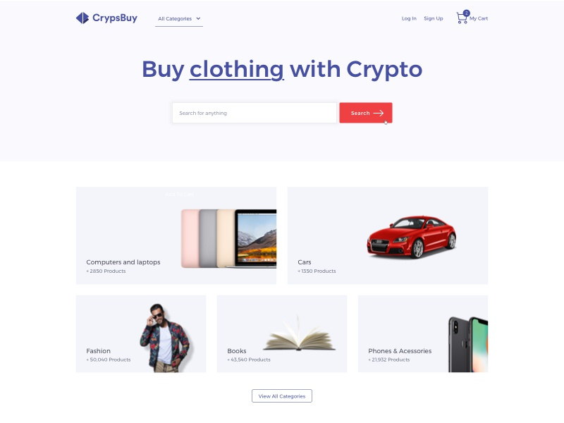 Crypsbuy home crypsbuy branding cryptocurrency crypto commerce ecommerce webdesign