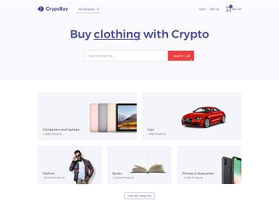Crypsbuy home crypsbuy branding cryptocurrency crypto commerce ecommerce webdesign