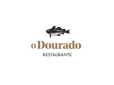 Restaurant branding brand dourado portugal fish logo branding restaurant