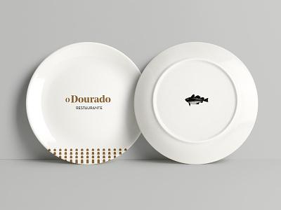 Restaurant plate mockup plate branding design dourado fish restaurant logo brand branding