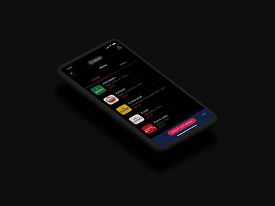 Festival app > item selection selection item selection listing mobile app mobile food drinks beer music app ios festival app
