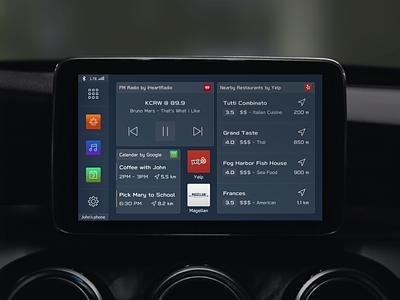 Clarion Starlink App subaru starlink app clarion ux user experience ui uiux user interface widgets automotive design car automotive car dashboard