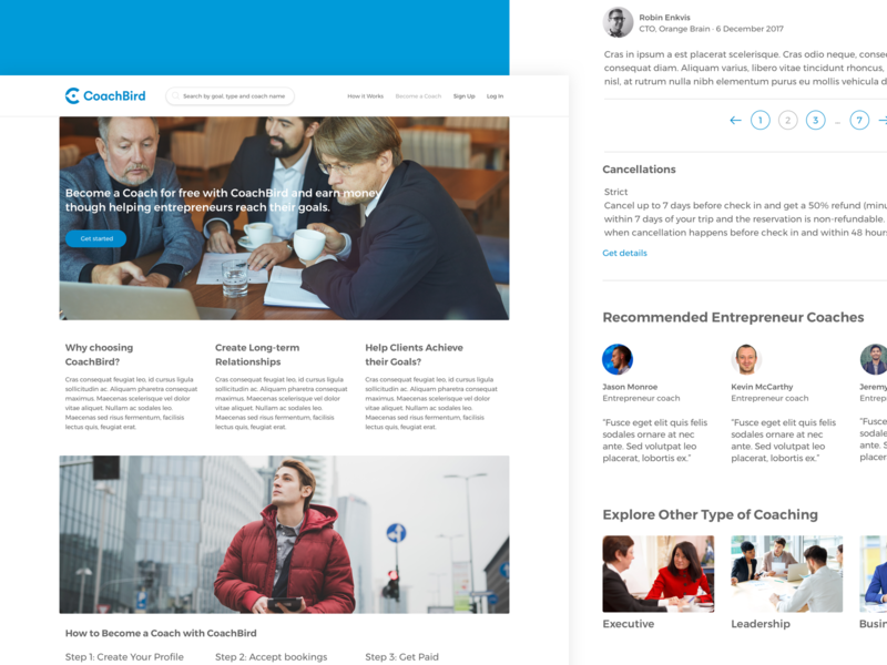 How to become a coach webdesign platform website design goals coachbird become a coach coach coaching