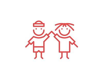 Logo for A Helping Hack logo mark illustration people vector symbol
