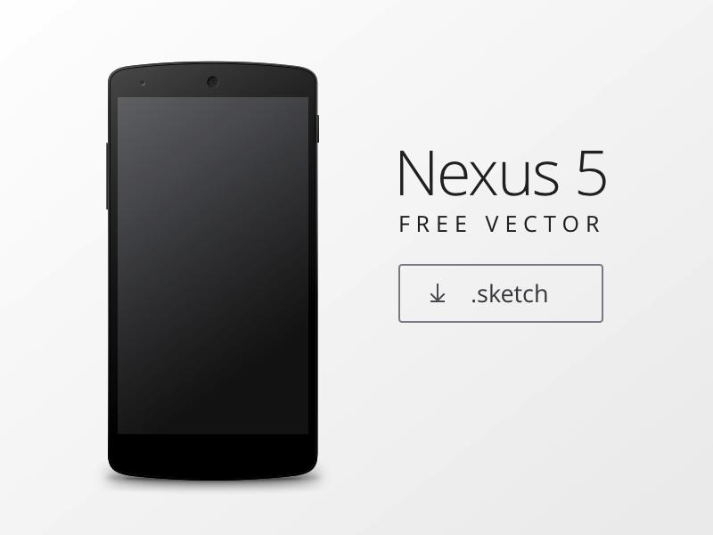 Nexus 5 Mockup nexus 5 nexus android mockup mock-up vector download free freebie phone template mobile