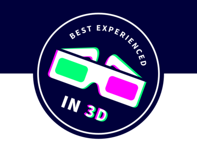 Nordic.js - Best experienced in 3D illustration icon branding event 3d anaglyph badge