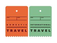 Domestic/International Travel Tags