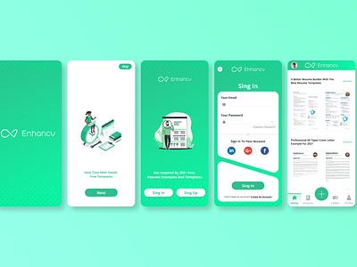 Enhancv UI / UX Design icon vector ux uiux ui design ui logo design app design app