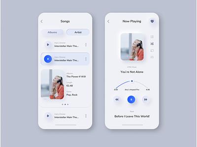 Song UI / UX Design vector branding illustration uiux ui design ui logo design app design app
