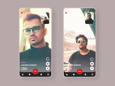Video Call UI / UX Design icon ux vector uiux ui design ui logo design app design app