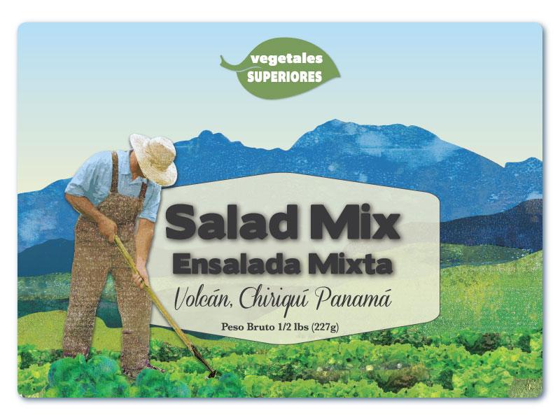 Salad Label mountains visual design leaf logo package design food label salad label texture graphic design package label label