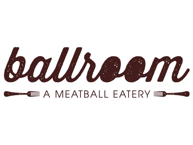 ballroom - Meatball Eatery logo communication branding