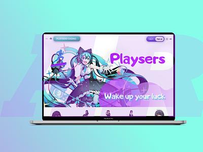 Redesign playsers.com figma playsers anime online casino design web graphic design ux ui