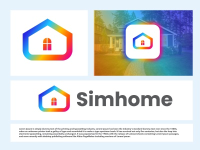 Home modern logo branding modern logo modern monogram top best house realestate home designs vector design gradient logo colorful minimal illustration graphic design a b c d e f g h i j k l m n o p q r s t u v w x y z branding