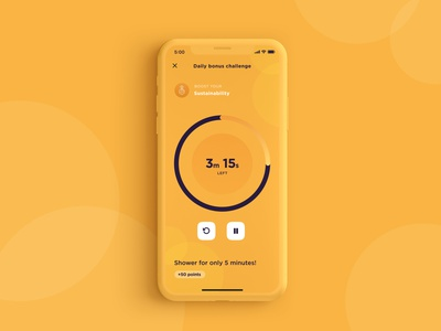 Countdown Exploration bold mobile design mobile ui mobile app countdown timer countdown counter mobile yellow minimal ui