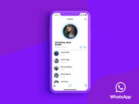 WhatsApp Redesign - Profile Page