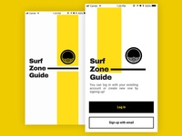 Surf Zone - Loading and Log In Screens