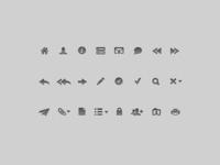 Toolbar glyphs