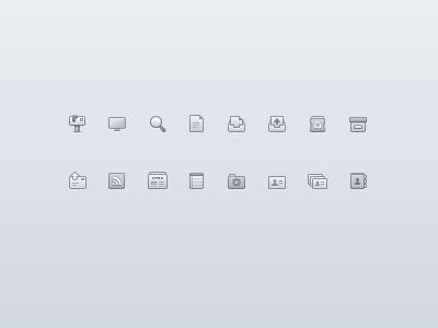 Monochrome set icons lion