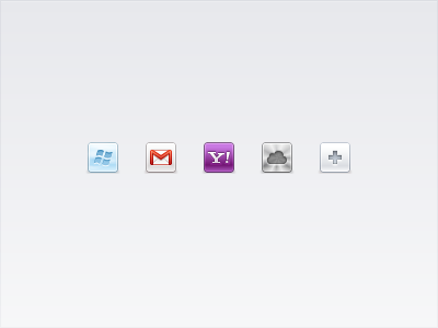 Email accounts icons
