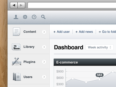 CMS Dashboard icons nav header cms app