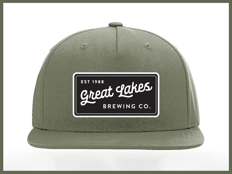 GLBC minimal patch design patch hat apparel branding design minimal beer typography vector