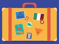 Mediterranean Scrapbook Kit - Postcard sample