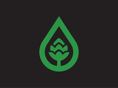 Logo concept water charity community hop beer eco green nature
