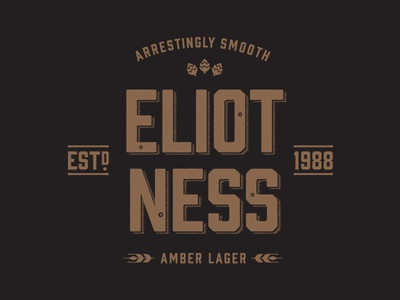 GLBC Eliot Ness Shirt Design prohibition vintage eliot ness craft glbc beer