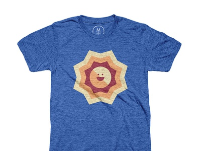 """Simple Sun"" t-shirt positive happy shirt apparel minimal simple sun"