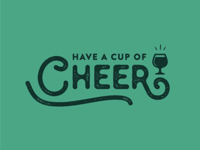 Cup Of Cheer Typography festive green typography type cheer beer holiday christmas