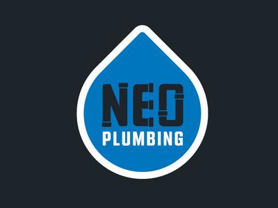 NEO Plumbing Logo blue cleveland clean thick cool plumbing water logo