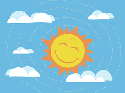 Daytime sun illustration dribbble 02
