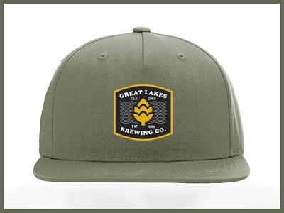 GLBC Rejected Hat Design branding beer rejected patch minimal typography design apparel glbc hat