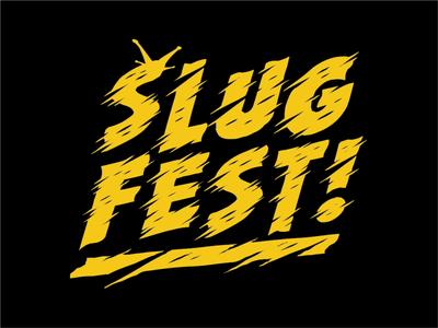 SLUG FEST Band design band design vector minimal color typography illustration