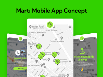 Martı Mobile App Concept mobile app mobile redesign ux concept martı