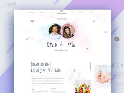 Wedding web and invitation