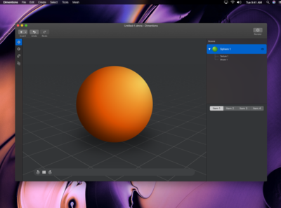 3D Mac app WIP